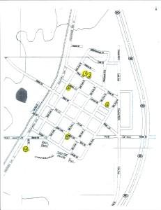 2020 Fall Garage Sales Map