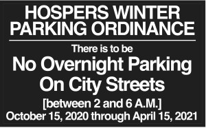 2020 - WINTER PARKING