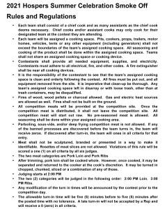 2021 - SMOKE OFF Rules & Regulations - pg 1