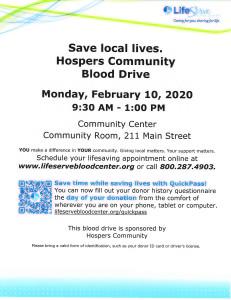 Blood Drive - February 2020