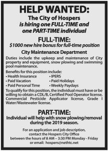 November 2019 Employment Ad