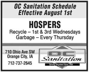 OC Sanitation - new recycling dates