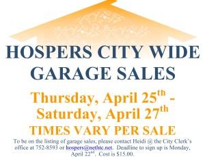 Spring 2019 Garage Sales